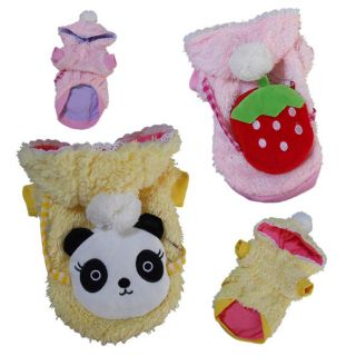 All Size Cute Plush Dog Hoodie Coat Cotton Dog Clothes Pet Supplies Pet Apparel