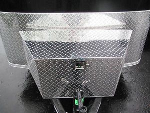 "38"" Aluminum Truck Boat Trailer Tongue Tool Box"