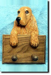 English Cocker Spaniel Dog Topper Leash Holder in Home Wall Decor Products