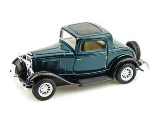 1932 Ford 3 Window Coupe Diecast 1 34 Scale Green