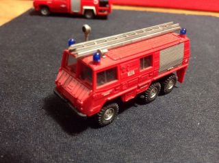 Vintage Roco Klfa Fire Truck Ladder Engine Emergency Plastic Made Austria 1 87