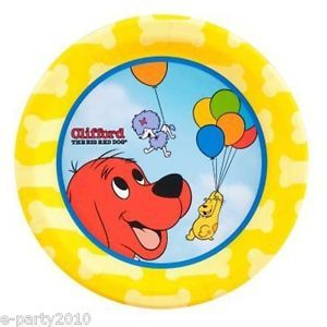 8 Clifford The Big Red Dog Cake Plates Birthday Party Supplies