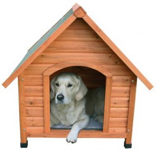 New Pitched Roof Dog House Small Raised Floor Doghouse Weatherproof Wooden Wood