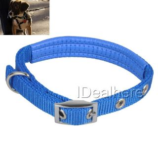 Adjustable High Quality Nylon Dog Collar Blue