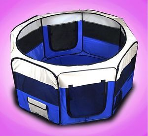 "New 45"" Pet Puppy Dog Large Playpen Kennel Exercise Pen"