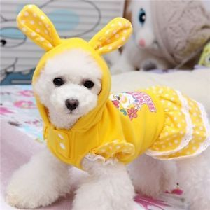 New Yellow Dog Dress Dog Clothes Pet Dog Sweater Jumpsuit for Puppy Dog Coat M L