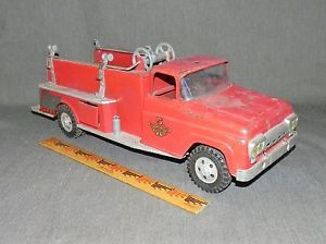 Tonka Fire Engine Truck No 5 Red Pressed Metal 1950s 60 Vintage