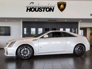 2012 Cadillac cts V Coupe Auto Nav Bose Diamond White Recaro 19 Wheels