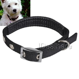 Adjustable High Quality Nylon Dog Collar Training Collar Black