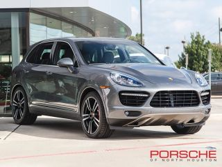 New 2014 Porsche Cayenne Turbo s Meteor Grey Burmester Pano Roof Cam LCA PDLS