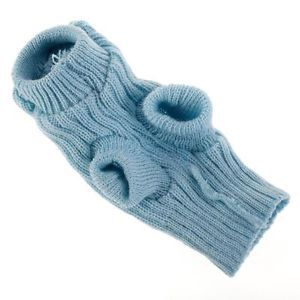 Pet Dog Cat Soft Sweater Knitting Clothes Knitwear Coat Apparel Warm Winter Blue