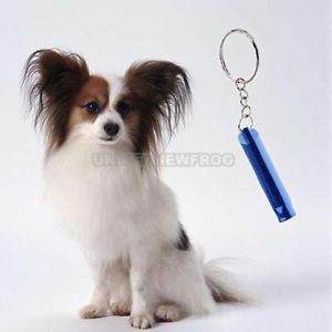 Metal Pet Dog Whistle Dog Obedience Training Whistle Keychain Pendant