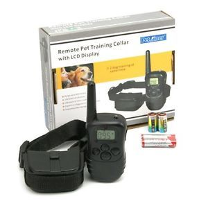 Remote Wireless Pet Dog Training Collar 100 Level Shock Vibration w LCD Display