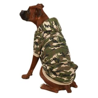 Medium Camo Fleece Dog Hoodie Sweatshirt Sweater Bichon Clothes Dog Supplies M