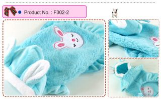 Dog Cat Clothes Skirts Bunny Ears Hoodie Fleece Dresses F302