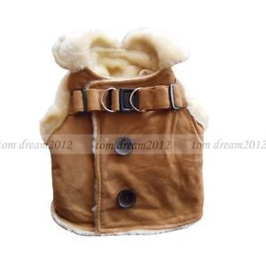 Free SHIP Thicken Plush Dog Sweater Coats Two Feet Dog Clothes Wear Clothing