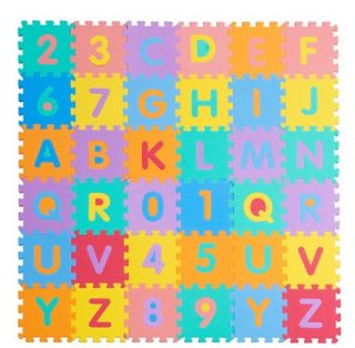 Baby Toddler Kid Eva Foam Puzzle Play Mat Crawling Mat Letters Numbers K5058