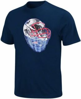 New England Patriots NFL Team Apparel Navy Helmet Tee Shirt Big Tall Sizes