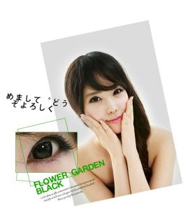 Farbige Kontaktlinsen Color Contact Lenses Barbie Girl Black Eye NO22D 14 5mm