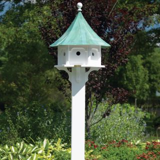 Cedar Brackets for Bird Houses Feeders White Large from Brookstone
