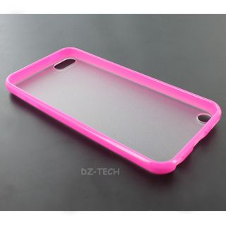 Pink Clear Hard Gel Hybrid TPU Candy Case Cover Apple iPod Touch 5 5g Accessory