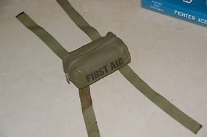 RARE WW2 First Aid Kit Parachute Kit USN aaf Army USMC First Type Very RARE