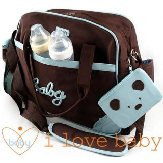Carter Blue Baby Diaper Nappy Changing Bag 4pcs