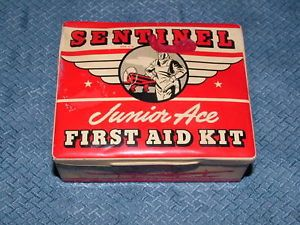 WWII WW2 Sentinel Junior Ace Airplane First Aid Kit Tin