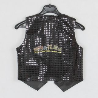 Baby Boy Girl Unisex Sequin Vest for Dance Party Show Costume
