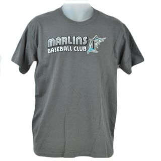 MLB Florida Miami Marlin Baseball Club Junior Youth Kid Tshirt Licensed Tee Gray