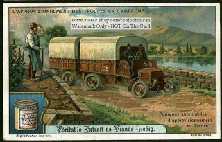 Army Truck Delivering Provisions in France 1915 Card