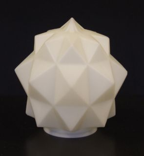 Art Deco White Opaque Glass Star Shape Lamp Shade
