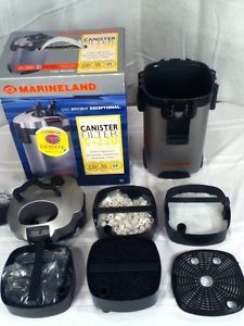 Marineland Canister Filter Parts Lot C 220 Motor Media Baskets 40 55 Gallon Tank