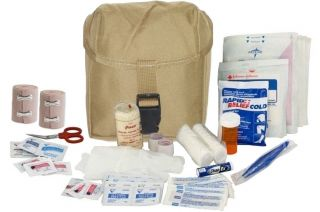Army Medic EMT ★ Military IFAK Trauma First Aid Kit ★ Tan Tactical Pouch