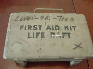 WWII Era United States Navy Life Raft First Aid Kit Box