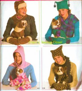 4780 Sewing Pattern Dog Misses Clothes Coat Hat Scarf Mittens Simplicity Uncut