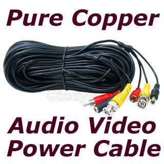 Security Surveillance CCTV Camera Video Power Extension Cable Wire 50 ft BNC 3JD