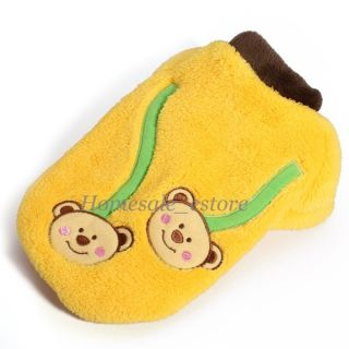Pet Dog Puppy Clothes Coat Fleece Cute Bear Hoodie Winter Warm Jacket XS s M L