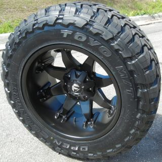 "20"" Black Fuel Octane 35"" Toyo M T Chevy GMC Dodge RAM 2500 3500 8x6 5"