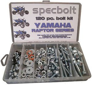 Yamaha Raptor Bolt Kit 120 Pieces 90 250 350 600 660 700 Body Engine Plastic Etc