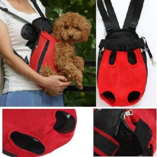 Soft Breath Nylon Pet Dog Cat Carrier Backpack Sling Tote Front Net Bag Travel