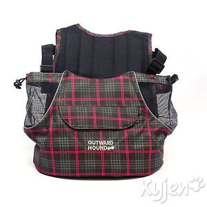 Kyjen Outward Hound Pet Dog Fashion Print Medium Front Carrier Plaid