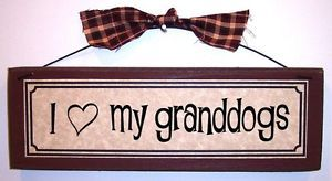 I Love Heart My Granddogs Funny Pet Lover Signs Plaques Gifts About Dogs Cats