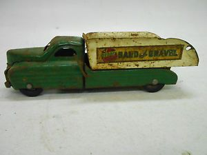 Vintage Buddy L Toys Sand and Gravel Truck w Dump Bed