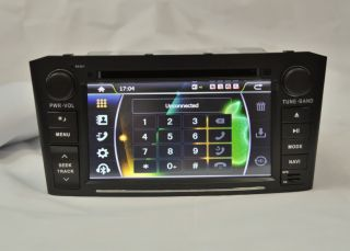 In Dash Car DVD Player GPS Radio with Touch Screen for Toyota Avensis 2003 2007