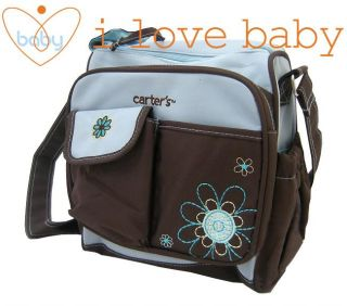 Small Flower Baby Diaper Nappy Changing Bag Blue