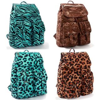 Zebra Leopard Backpacks Bookbags Animal Print Backpack Book Bag School Bags