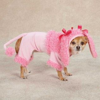 Zack Zoey Pink Poodle Dog Halloween Costume XS XL Pet Costumes