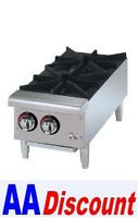 "New Star Star Max Hotplate Gas Countertop 12"" Wide 2 Burner 602HF"