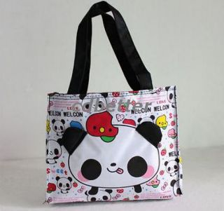 Child Kids Girls Cute Cartoon Panda Small Lunch Picnic Handbags Tote Bags Gift